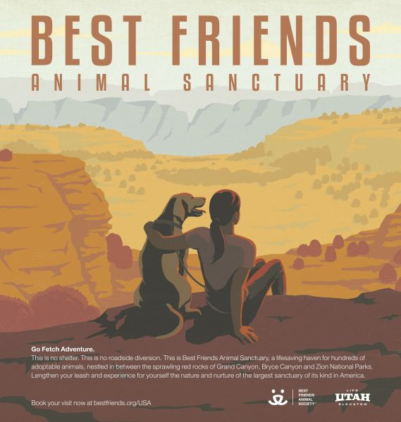 best friends animal sanctuary advertising